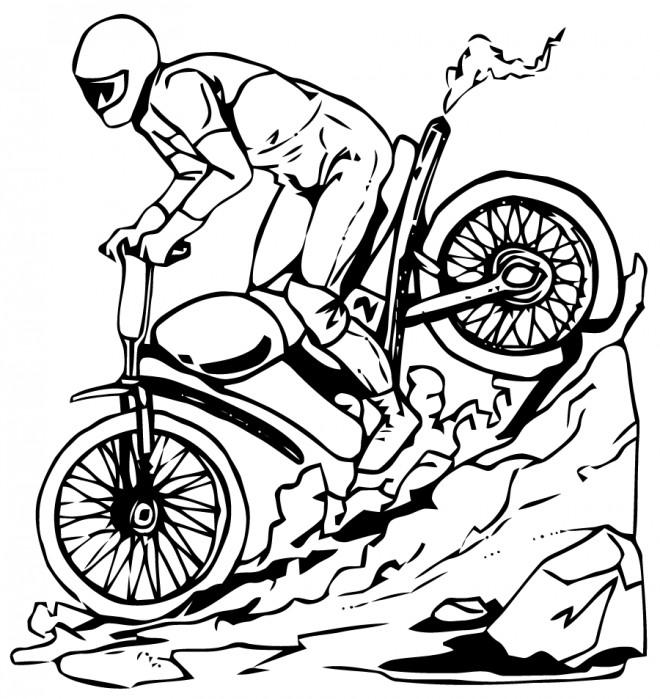 Coloriage et dessins gratuits Motocross Yamaha à imprimer
