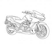 Coloriage et dessins gratuit Motocyclette en ligne à imprimer