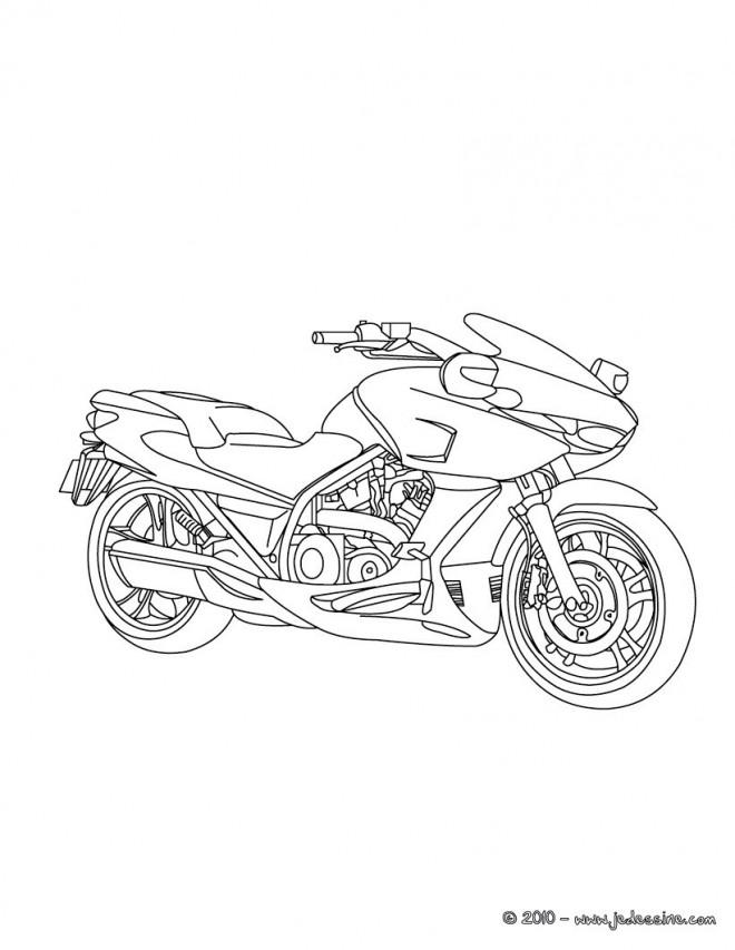 Coloriage et dessins gratuits Motocyclette en ligne à imprimer