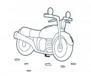 Coloriage et dessins gratuit Motocyclette facile à imprimer