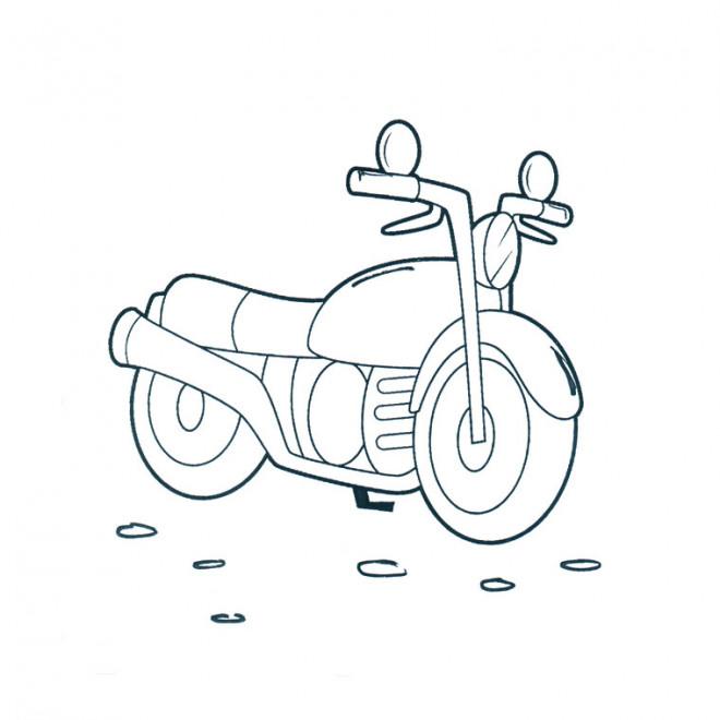 Coloriage et dessins gratuits Motocyclette facile à imprimer