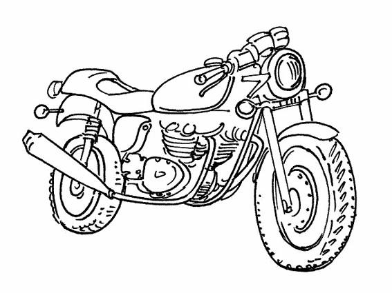 Coloriage et dessins gratuits Motorcycle en ligne à imprimer
