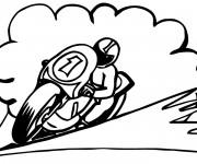 Coloriage Pilote et moto sport