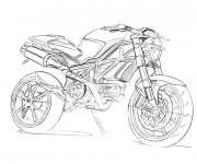 Coloriage et dessins gratuit Super moto de course à imprimer