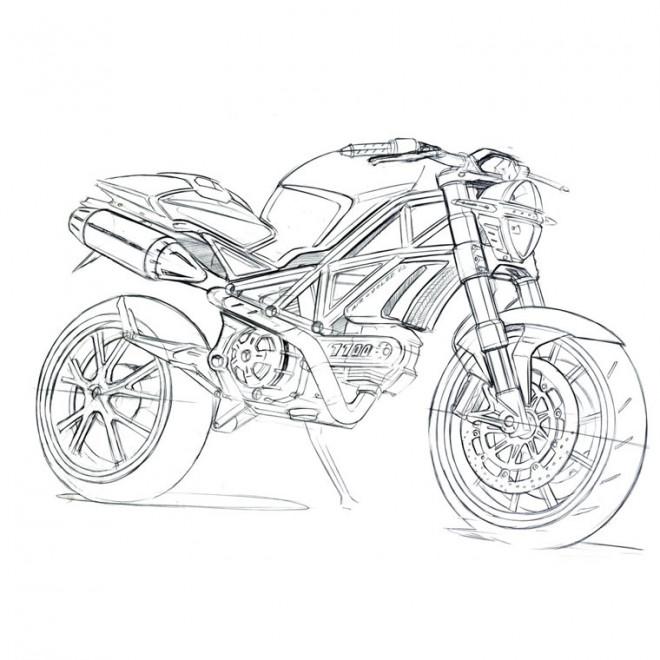 Coloriage et dessins gratuits Super moto de course à imprimer