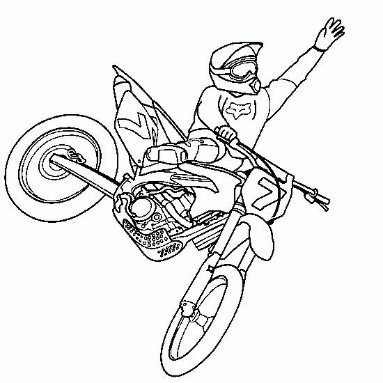 Coloriage Un Show De Motocross Couleur Dessin Gratuit A Imprimer