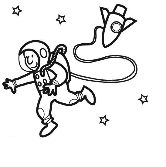 Coloriage et dessins gratuits Astronaute en ligne à imprimer