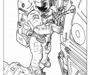 Coloriage Astronaute et $Navette Spatiale