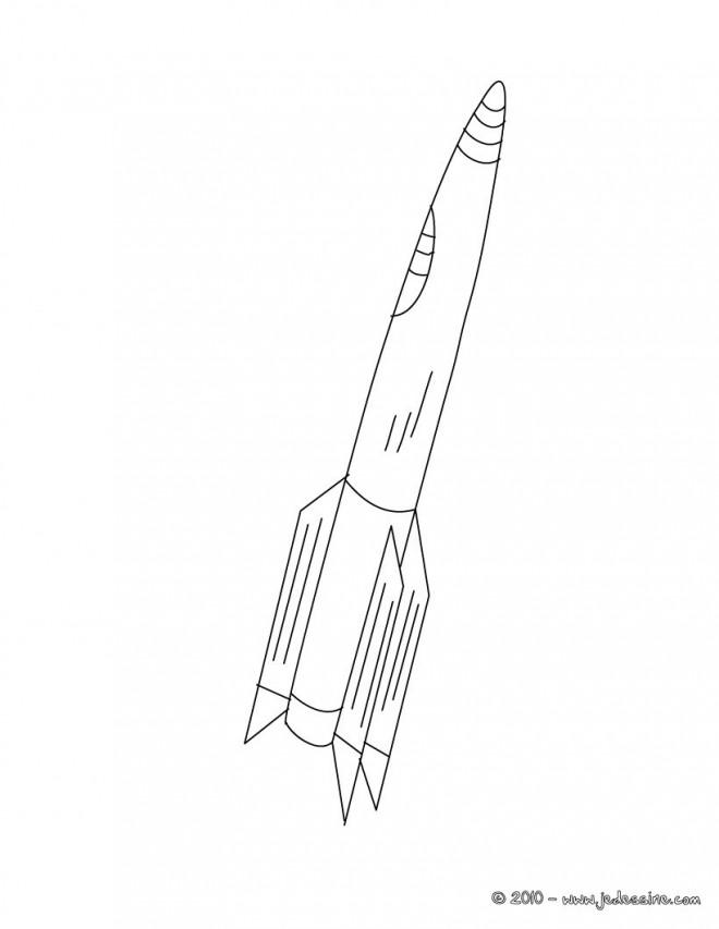 Coloriage et dessins gratuits Fusée Spatiale facile à imprimer