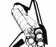 Coloriage et dessins gratuit La Navette Spatiale à imprimer