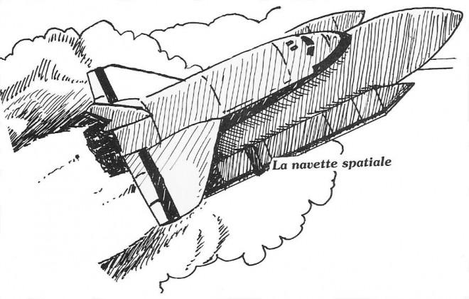 Coloriage et dessins gratuits La Navette Spatiale au crayon à imprimer