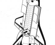 Coloriage et dessins gratuit Navette dans l'espace à imprimer