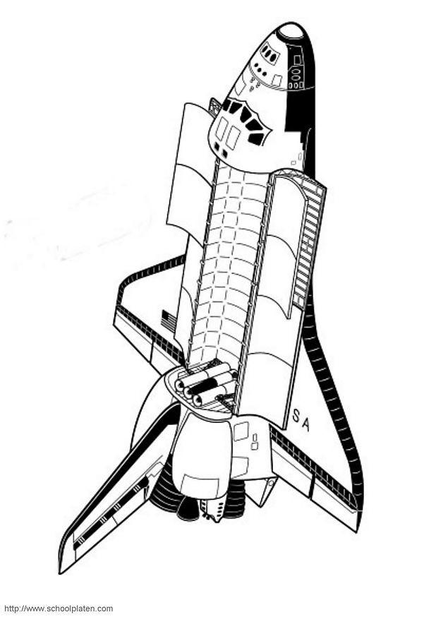 Coloriage et dessins gratuits Navette dans l'espace à imprimer