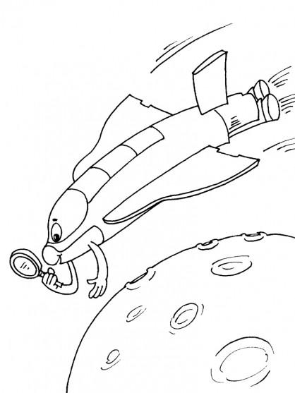 Coloriage et dessins gratuits Navette dessin animé à imprimer