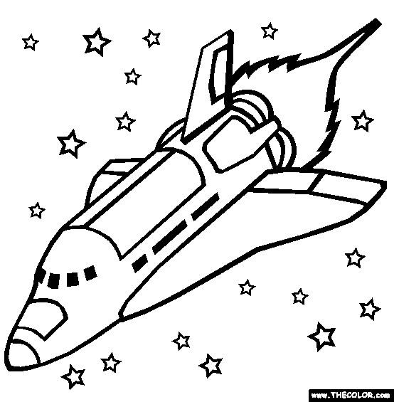 Coloriage et dessins gratuits Navette et Les Étoiles à imprimer