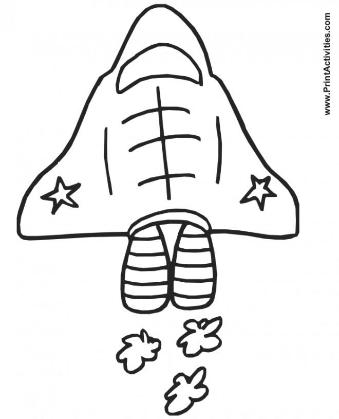 Coloriage et dessins gratuits Navette facile au crayon à imprimer