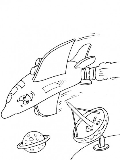 Coloriage et dessins gratuits Navette qui sourit à imprimer