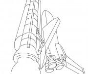 Coloriage et dessins gratuit Navette se lance vers l'espace à imprimer
