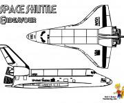 Coloriage Navette Spatiale Endeavour