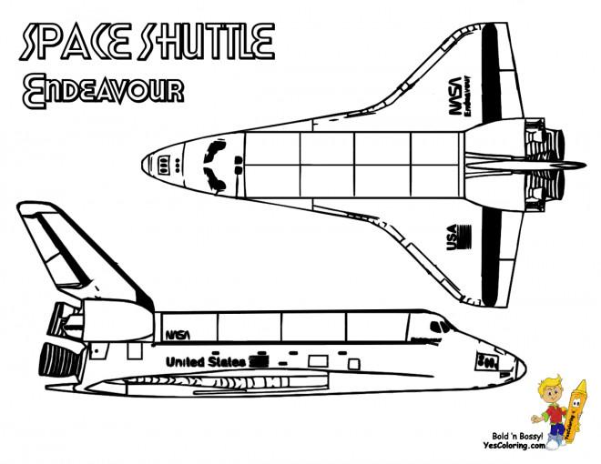 Coloriage et dessins gratuits Navette Spatiale Endeavour à imprimer