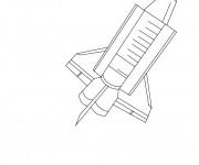 Coloriage Navette Spatiale simplifié