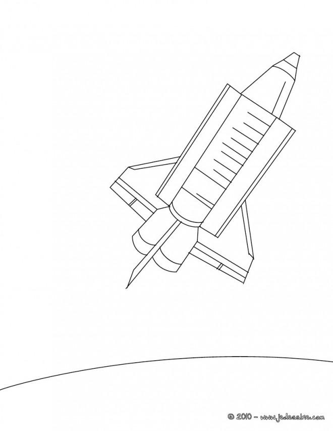 Coloriage et dessins gratuits Navette Spatiale simplifié à imprimer