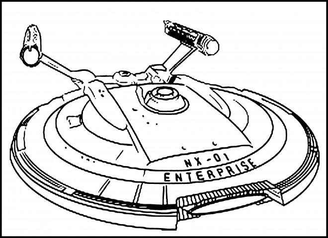 Coloriage Navette Star Trek Dessin Gratuit à Imprimer