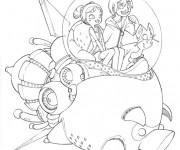 Coloriage Vaisseau spatial Disney