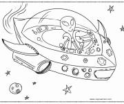 Coloriage et dessins gratuit Vaisseau spatial extraterrestre à imprimer