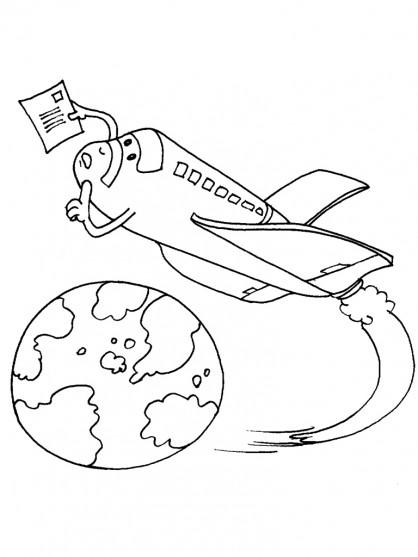 Coloriage et dessins gratuits Navette avec une lettre à imprimer
