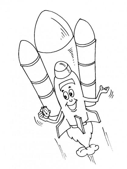 Coloriage et dessins gratuits Navette humoristique à imprimer