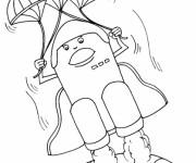 Coloriage Navette lance sa parachute