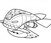 Coloriage et dessins gratuit Navette Les Découvreurs à imprimer