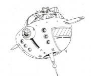 Coloriage et dessins gratuit Navette magique pour enfant à imprimer