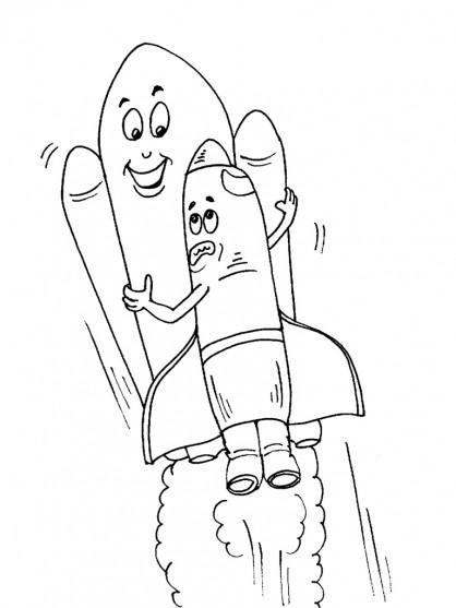Coloriage et dessins gratuits Navette qui fait rire à imprimer