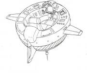 Coloriage et dessins gratuit Navette Spatiale à télécharger à imprimer