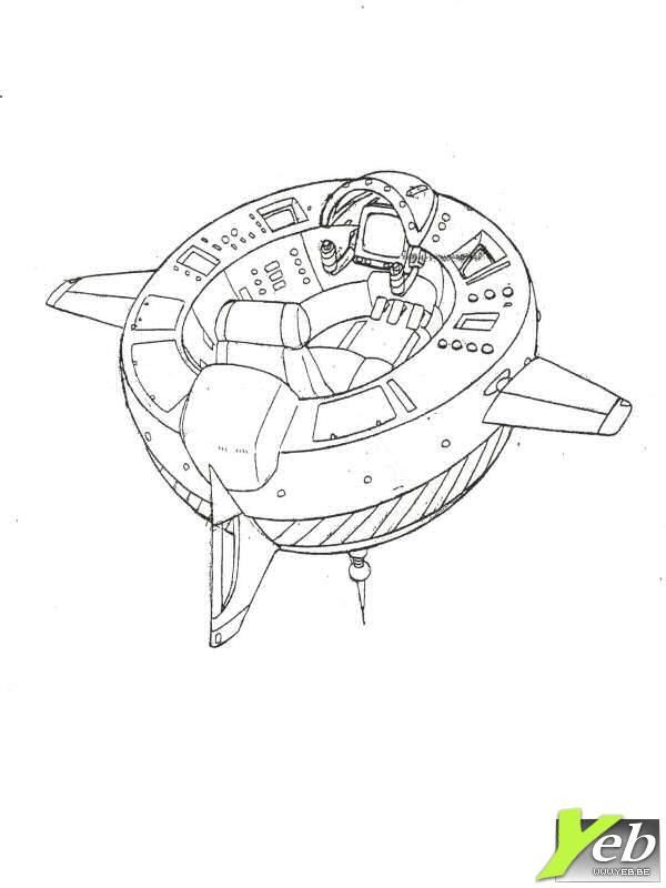 Coloriage et dessins gratuits Navette Spatiale à télécharger à imprimer