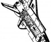 Coloriage et dessins gratuit Navette Spatiale américaine à imprimer