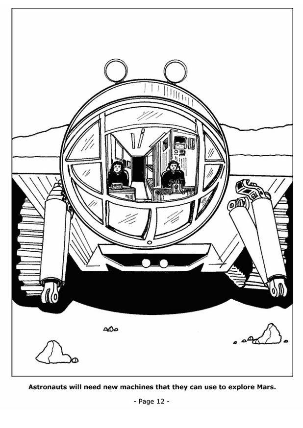 Coloriage et dessins gratuits Navette sur Mars à imprimer