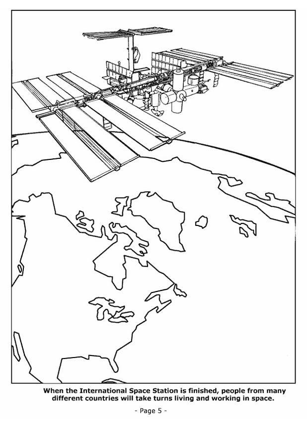 Coloriage et dessins gratuits Satellite autour de La Terre à imprimer