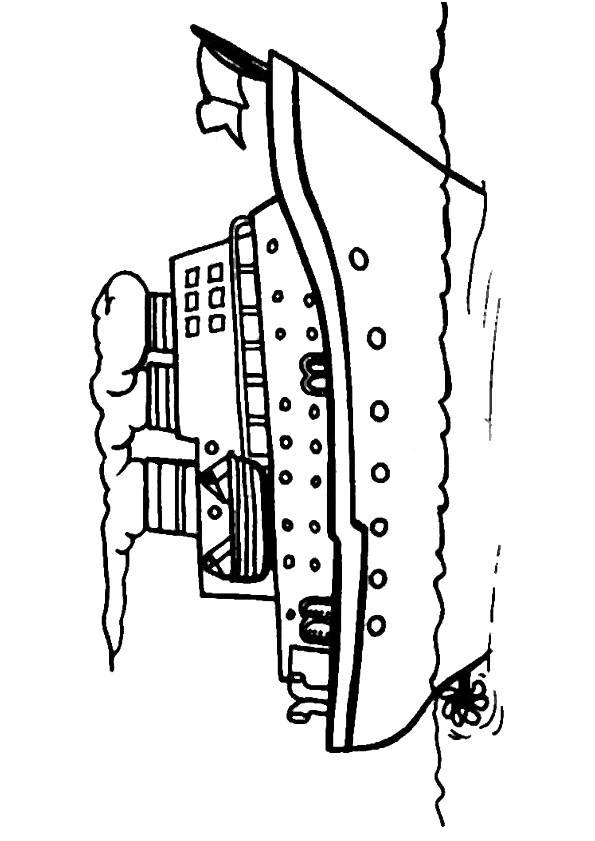 Coloriage et dessins gratuits Bateau de croisière à imprimer