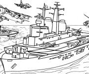 Coloriage et dessins gratuit Bateau de guerre à imprimer