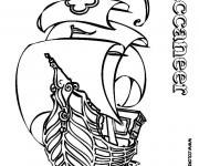 Coloriage et dessins gratuit Bateau Pirate Buccaneer à imprimer