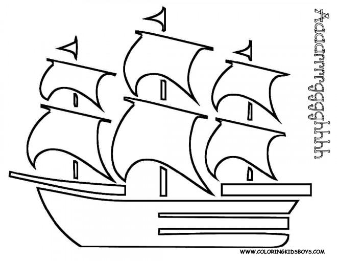 Coloriage Bateau Pirate Couleur.Coloriage Bateau Pirate Des Caraibes Dessin Gratuit A Imprimer