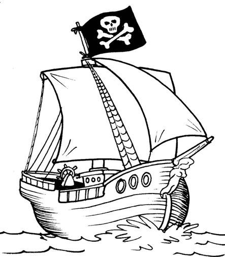 Coloriage Bateau Pirate Couleur.Coloriage Bateau Pirate En Ligne Dessin Gratuit A Imprimer
