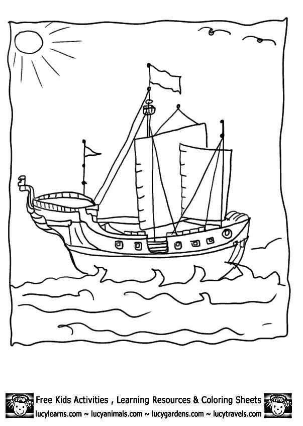 Coloriage Bateau Pirate Facile à Colorier Dessin Gratuit à Imprimer