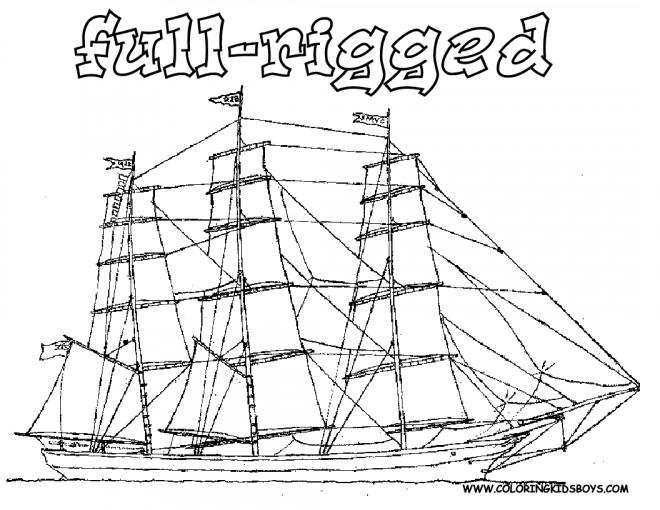 Coloriage et dessins gratuits Grand Navire antique à imprimer