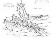 Coloriage Le naufrage d'un bateau