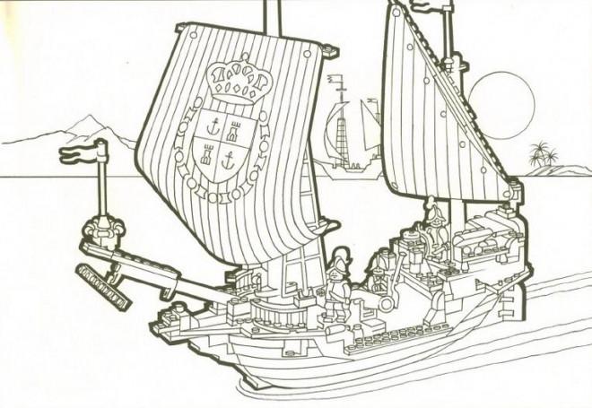 Coloriage et dessins gratuits Les Pirates Lego City à imprimer