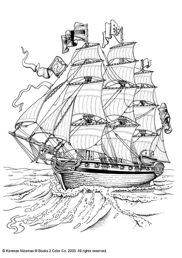 Coloriage et dessins gratuits Navire à voile britannique à imprimer